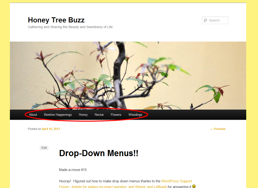 how to create a drop down menu in weebly
