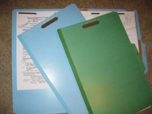 Divided file folders